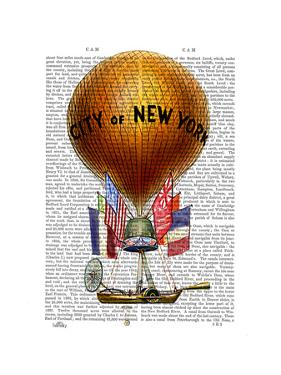 City of New York Hot Air Balloon by Fab Funky
