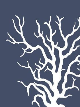 Corals White on Indigo Blue a by Fab Funky