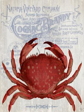 Crab Prohibition Crab On White by Fab Funky