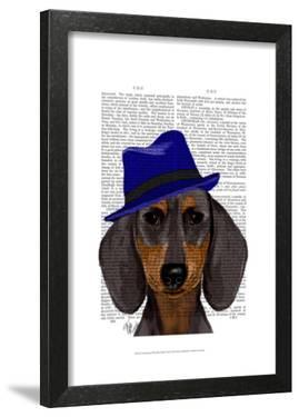 Dachshund With Blue Trilby by Fab Funky