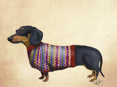 Dachshund With Woolly Sweater