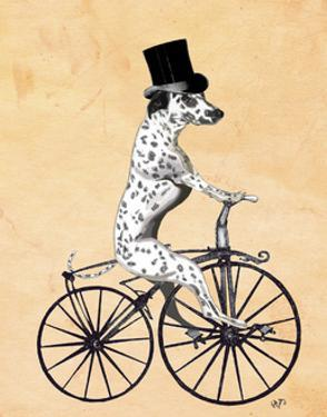 Dalmatian On Bicycle by Fab Funky