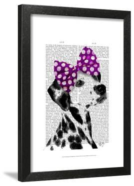Dalmatian with Purple Bow on Head by Fab Funky