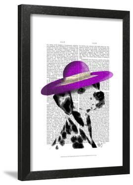 Dalmatian With Purple Wide Brimmed Hat by Fab Funky