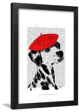 Dalmatian With Red Beret by Fab Funky