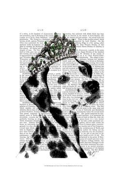 Dalmatian with Tiara by Fab Funky