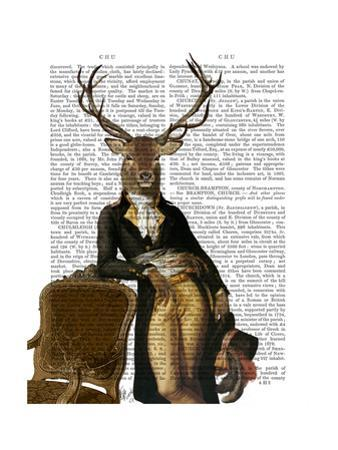 Deer and Chair Full by Fab Funky