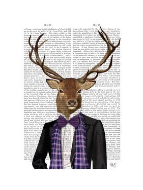 Deer in Evening Suit, Portrait by Fab Funky