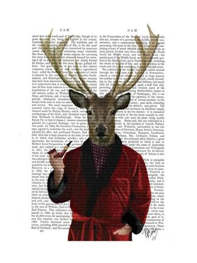 Deer in Smoking Jacket by Fab Funky
