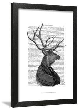 Deer Portrait 1 by Fab Funky