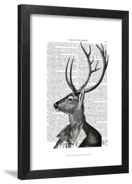 Deer Portrait 2 by Fab Funky