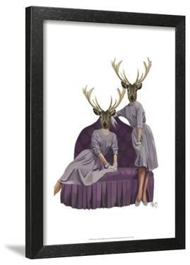 Deer Twins in Purple Dresses by Fab Funky
