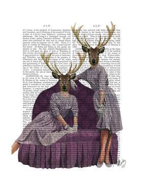 Deer Twins in Purple by Fab Funky