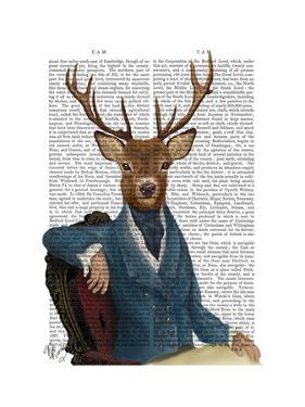 Distinguished Deer Portrait by Fab Funky