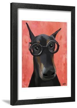Doberman With Glasses by Fab Funky