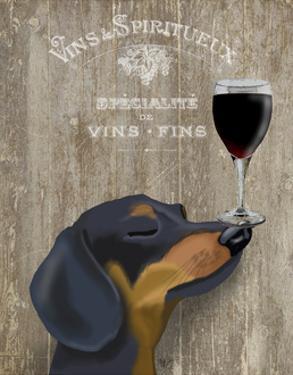 Dog Au Vin Dachshund by Fab Funky