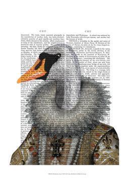 Elizabethan Swan by Fab Funky