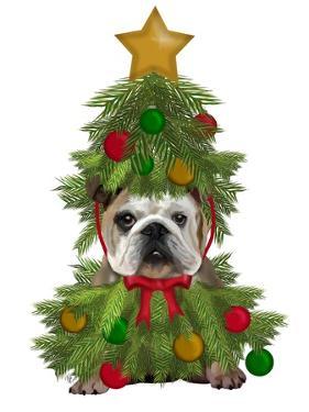English Bulldog, Christmas Tree Costume by Fab Funky