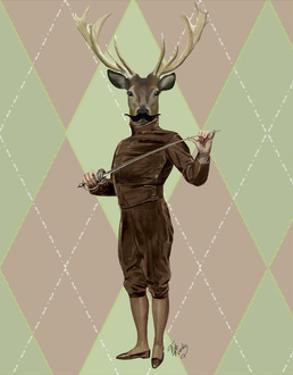 Fencing Deer Full by Fab Funky