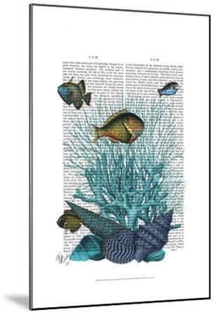 Fish Blue Shells and Corals by Fab Funky