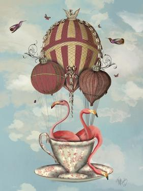 Flamingos in Teacup by Fab Funky