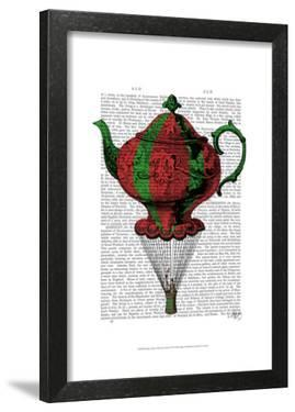 Flying Teapot 2 Red and Green by Fab Funky