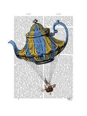 Flying Teapot 3 Blue and Yellow by Fab Funky