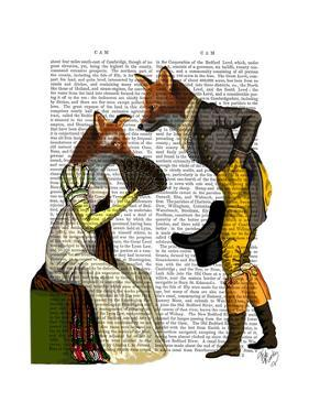Foxes Courting by Fab Funky