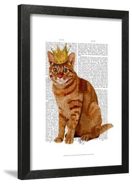 Ginger Cat with Crown Full by Fab Funky