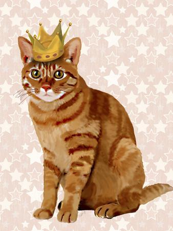 Ginger Cat with Crown Full