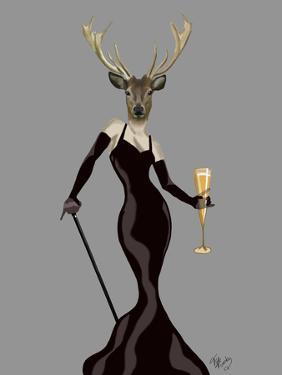 Glamour Deer in Black by Fab Funky