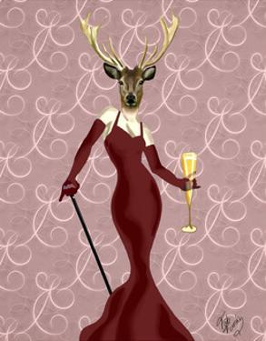 Glamour Deer in Marsala by Fab Funky