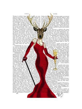 Glamour Deer In Red by Fab Funky