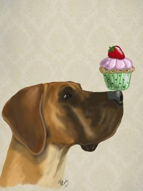 Great Dane and Cupcake by Fab Funky