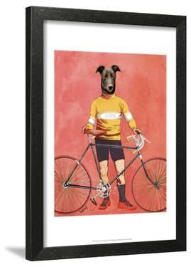 Greyhound Cyclist by Fab Funky