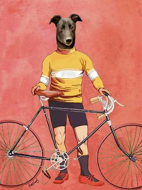 Greyhound Cyclist by Fab Funky