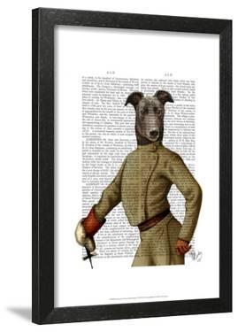 Greyhound Fencer Dark Portrait by Fab Funky