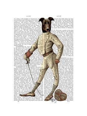 Greyhound Fencer in Cream Full by Fab Funky
