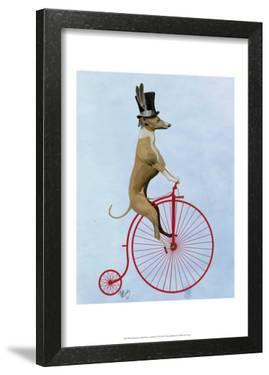 Greyhound on Red Penny Farthing by Fab Funky