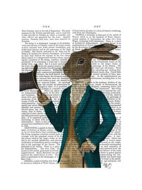 Hare In Turquoise Coat by Fab Funky