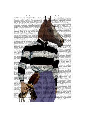 Horse Racing Jockey Portrait by Fab Funky