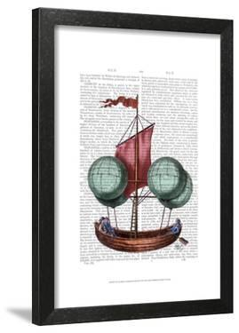 Hot Air Balloon Airship With Red Sail by Fab Funky
