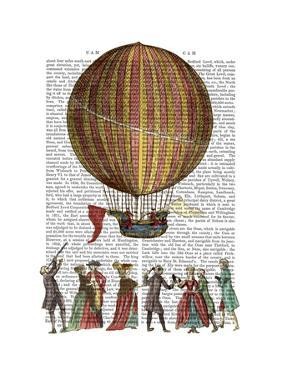 Hot Air Balloon And People by Fab Funky