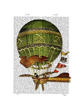 Hot Air Balloon Green by Fab Funky