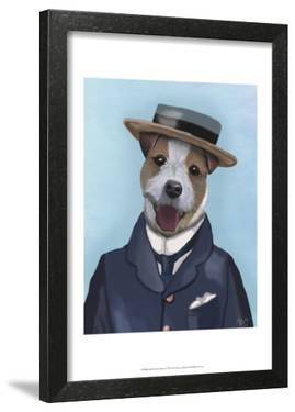 Jack Russell in Boater by Fab Funky
