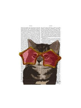 Kitten in Star Sunglasses by Fab Funky