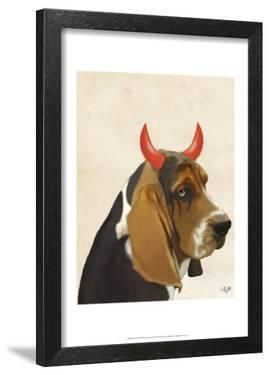 Little Devil Basset Hound by Fab Funky