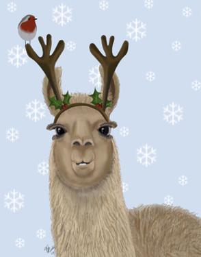 Llama, Antlers by Fab Funky