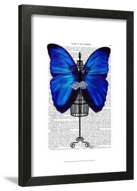Mannequin Blue Butterfly by Fab Funky