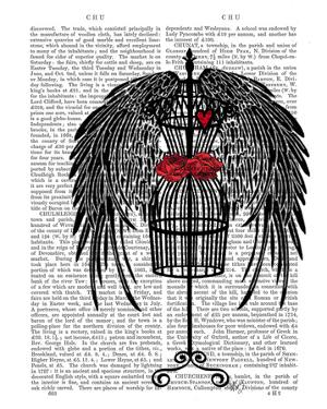 Mannequin With Black Wings by Fab Funky